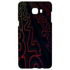Neon Number Samsung C9 Pro Hardshell Case  by Mariart