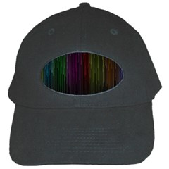 Line Rain Rainbow Light Stripes Lines Flow Black Cap by Mariart