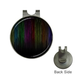 Line Rain Rainbow Light Stripes Lines Flow Hat Clips With Golf Markers by Mariart