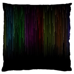 Line Rain Rainbow Light Stripes Lines Flow Large Cushion Case (one Side)