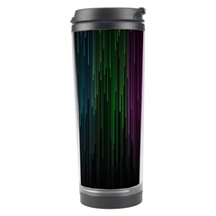 Line Rain Rainbow Light Stripes Lines Flow Travel Tumbler by Mariart