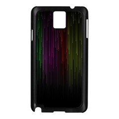 Line Rain Rainbow Light Stripes Lines Flow Samsung Galaxy Note 3 N9005 Case (black) by Mariart