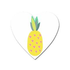 Pineapple Fruite Yellow Triangle Pink Heart Magnet by Mariart