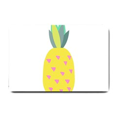 Pineapple Fruite Yellow Triangle Pink Small Doormat  by Mariart