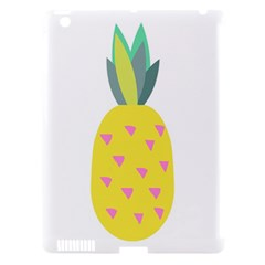 Pineapple Fruite Yellow Triangle Pink Apple Ipad 3/4 Hardshell Case (compatible With Smart Cover) by Mariart