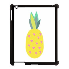 Pineapple Fruite Yellow Triangle Pink Apple Ipad 3/4 Case (black) by Mariart