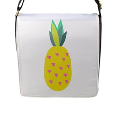 Pineapple Fruite Yellow Triangle Pink Flap Messenger Bag (l)  by Mariart
