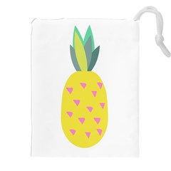 Pineapple Fruite Yellow Triangle Pink Drawstring Pouches (xxl) by Mariart