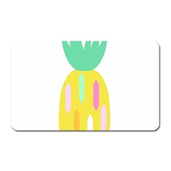 Pineapple Fruite Yellow Triangle Pink White Magnet (rectangular) by Mariart