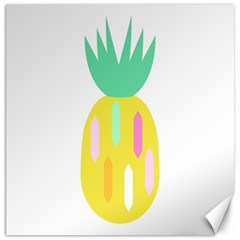 Pineapple Fruite Yellow Triangle Pink White Canvas 16  X 16   by Mariart