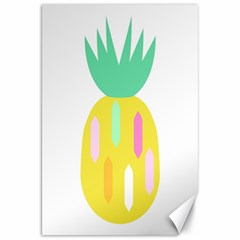 Pineapple Fruite Yellow Triangle Pink White Canvas 20  X 30