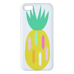 Pineapple Fruite Yellow Triangle Pink White Apple Iphone 5 Premium Hardshell Case by Mariart