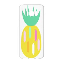Pineapple Fruite Yellow Triangle Pink White Samsung Galaxy S8 Hardshell Case  by Mariart