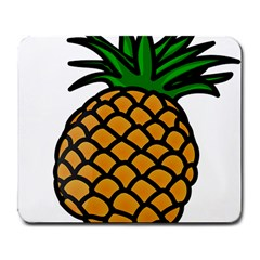 Pineapple Fruite Yellow Green Orange Large Mousepads by Mariart