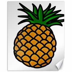 Pineapple Fruite Yellow Green Orange Canvas 16  X 20   by Mariart