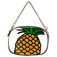 Pineapple Fruite Yellow Green Orange Chain Purses (two Sides)  by Mariart