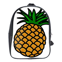 Pineapple Fruite Yellow Green Orange School Bag (large)