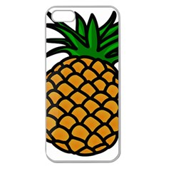 Pineapple Fruite Yellow Green Orange Apple Seamless Iphone 5 Case (clear) by Mariart