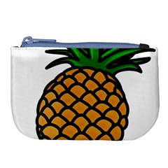 Pineapple Fruite Yellow Green Orange Large Coin Purse by Mariart