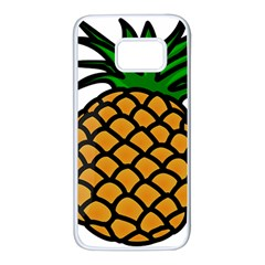 Pineapple Fruite Yellow Green Orange Samsung Galaxy S7 White Seamless Case by Mariart