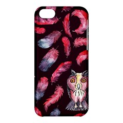 Boho Owl And Feather Pattern Apple Iphone 5c Hardshell Case by paulaoliveiradesign