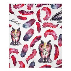 Boho Owl And Feather White Pattern Shower Curtain 60  X 72  (medium)  by paulaoliveiradesign