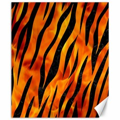 Skin3 Black Marble & Fire (r) Canvas 8  X 10