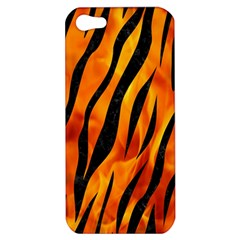 Skin3 Black Marble & Fire (r) Apple Iphone 5 Hardshell Case by trendistuff