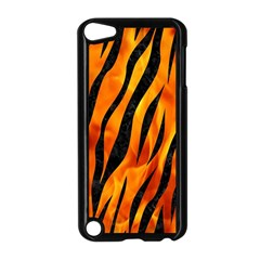Skin3 Black Marble & Fire (r) Apple Ipod Touch 5 Case (black) by trendistuff