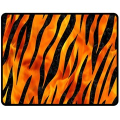 Skin3 Black Marble & Fire (r) Double Sided Fleece Blanket (medium)  by trendistuff