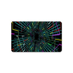 Colorful Geometric Electrical Line Block Grid Zooming Movement Magnet (name Card)