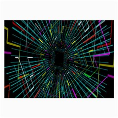 Colorful Geometric Electrical Line Block Grid Zooming Movement Large Glasses Cloth by Mariart