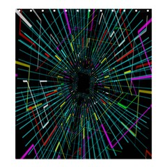 Colorful Geometric Electrical Line Block Grid Zooming Movement Shower Curtain 66  X 72  (large)  by Mariart