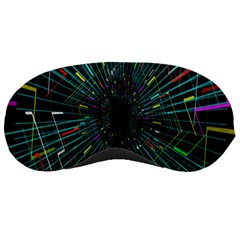 Colorful Geometric Electrical Line Block Grid Zooming Movement Sleeping Masks by Mariart