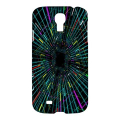 Colorful Geometric Electrical Line Block Grid Zooming Movement Samsung Galaxy S4 I9500/i9505 Hardshell Case by Mariart