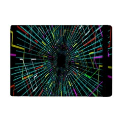 Colorful Geometric Electrical Line Block Grid Zooming Movement Ipad Mini 2 Flip Cases by Mariart