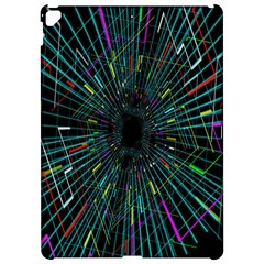 Colorful Geometric Electrical Line Block Grid Zooming Movement Apple Ipad Pro 12 9   Hardshell Case