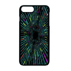 Colorful Geometric Electrical Line Block Grid Zooming Movement Apple Iphone 7 Plus Seamless Case (black) by Mariart
