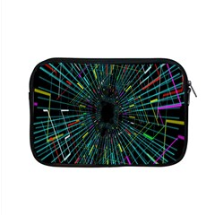 Colorful Geometric Electrical Line Block Grid Zooming Movement Apple Macbook Pro 15  Zipper Case by Mariart