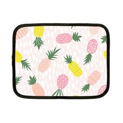 Pineapple Rainbow Fruite Pink Yellow Green Polka Dots Netbook Case (small)