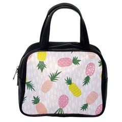 Pineapple Rainbow Fruite Pink Yellow Green Polka Dots Classic Handbags (one Side) by Mariart