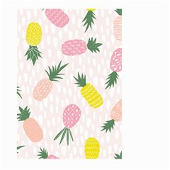 Pineapple Rainbow Fruite Pink Yellow Green Polka Dots Large Garden Flag (two Sides)