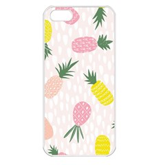 Pineapple Rainbow Fruite Pink Yellow Green Polka Dots Apple Iphone 5 Seamless Case (white) by Mariart