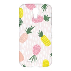 Pineapple Rainbow Fruite Pink Yellow Green Polka Dots Samsung Galaxy S4 I9500/i9505 Hardshell Case by Mariart
