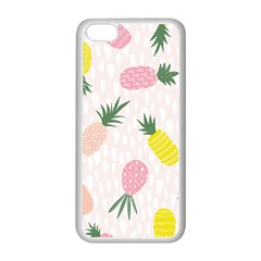 Pineapple Rainbow Fruite Pink Yellow Green Polka Dots Apple Iphone 5c Seamless Case (white) by Mariart