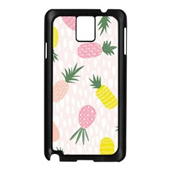 Pineapple Rainbow Fruite Pink Yellow Green Polka Dots Samsung Galaxy Note 3 N9005 Case (black) by Mariart