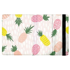 Pineapple Rainbow Fruite Pink Yellow Green Polka Dots Apple Ipad Pro 9 7   Flip Case by Mariart