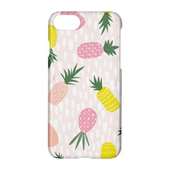Pineapple Rainbow Fruite Pink Yellow Green Polka Dots Apple Iphone 7 Hardshell Case by Mariart