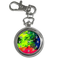 Neon Rainbow Green Pink Blue Red Painting Key Chain Watches by Mariart