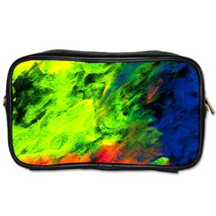 Neon Rainbow Green Pink Blue Red Painting Toiletries Bags